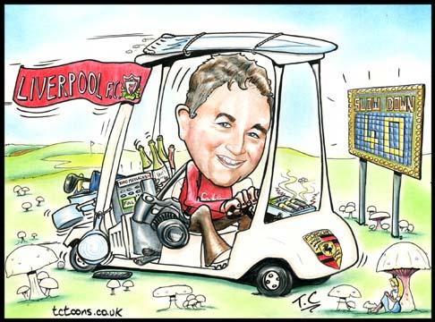 golf cartoon. This single person Cartoon