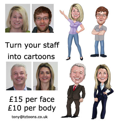 business cartoon caricatures