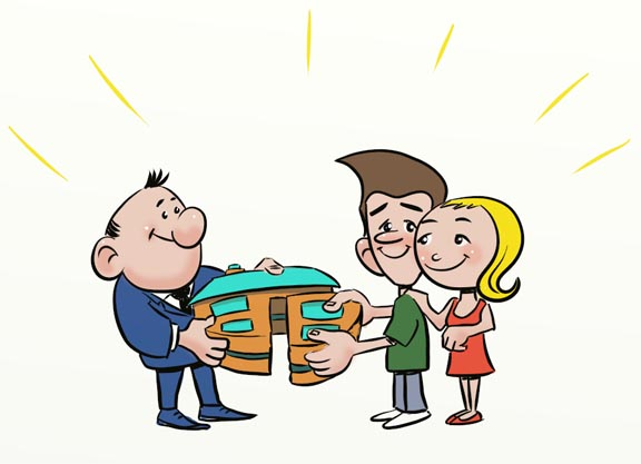 Business cartoon for website design